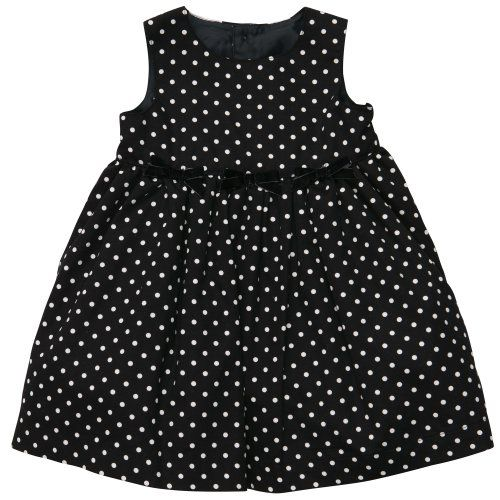 Carter's Baby Girls Special Occasion Dress (NB-24M) (Newborn, Black Dot)