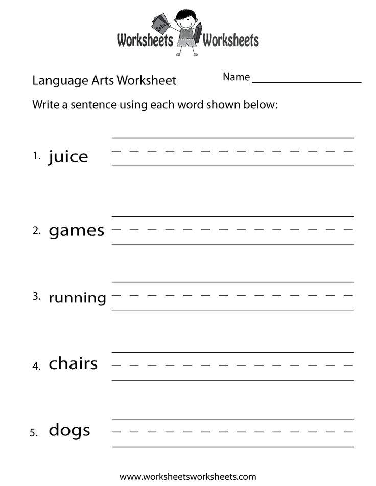 English Language Arts Worksheet Free Printable Educational Worksh Language Arts Worksheets Kindergarten Language Arts Worksheets Free Kindergarten Worksheets Language arts worksheets kindergarten