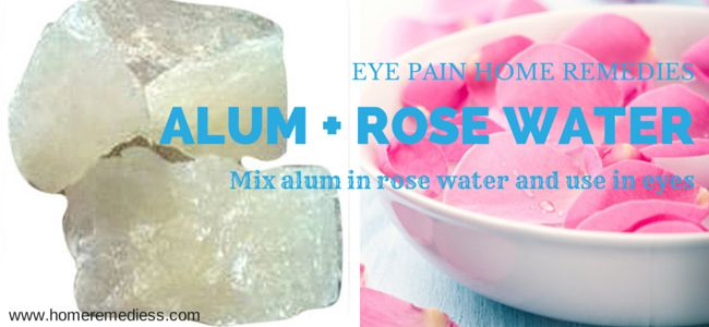 Home remedies for eye pain