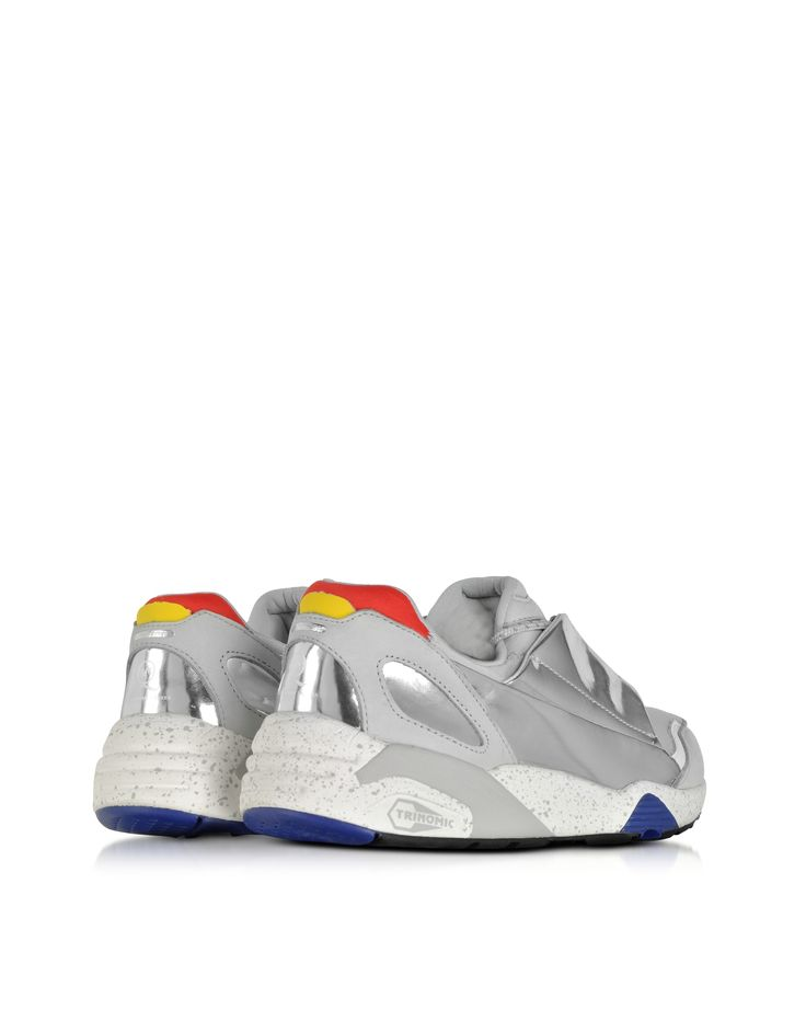 Gray Fabric Lace Disc Sneaker McQ Alexander McQueen x Puma 36 EU (3.5 UK | 36 EU | 4.5 US) sur FORZIERI