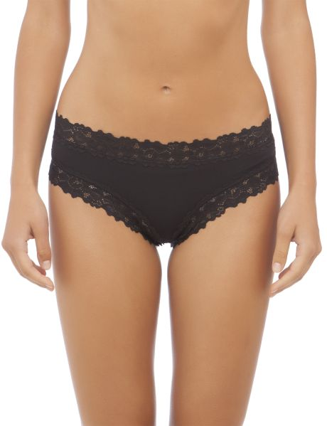 Made from a soft and comfortable fabric, this brief features a 'cheeky' cut across the bottom for a fun modern shape.