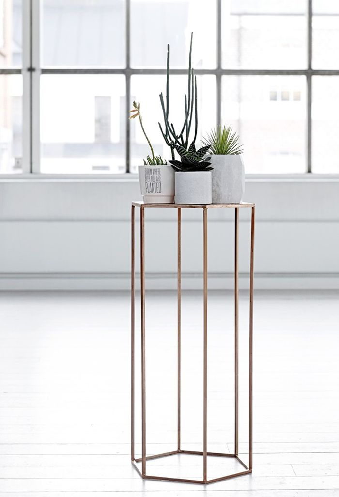 Bloomingville AW14 copper piedestal and flowerpots @bloomingville_interiors  www.bloomingville.com  @bloomingville
