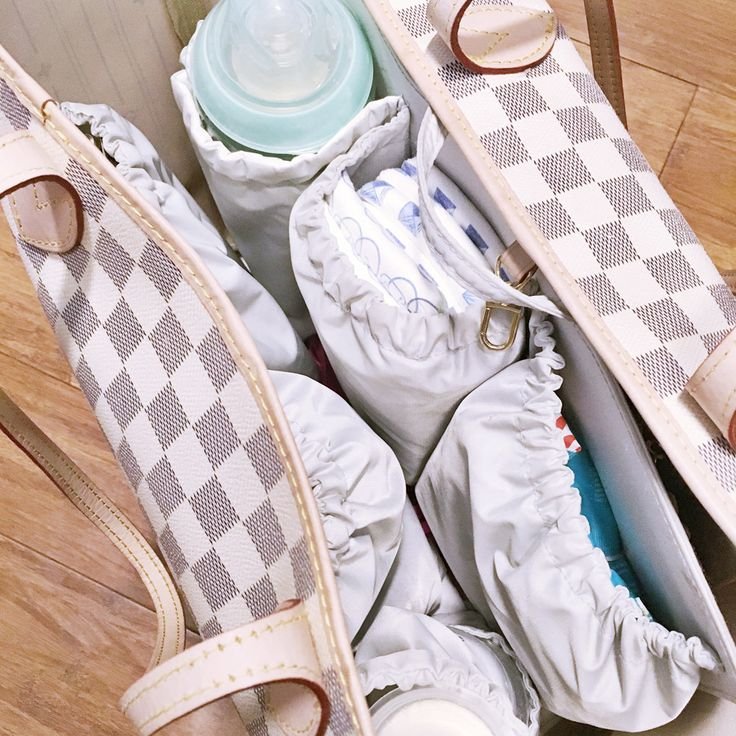 Louis Vuitton Neverfull as a Diaper Bag