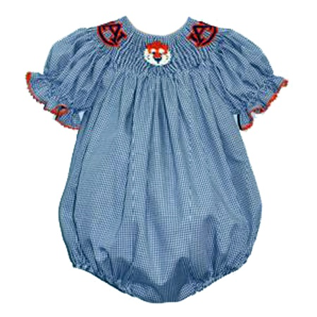 Olivia Will Need This Auburn Girls Smocked Bubble From