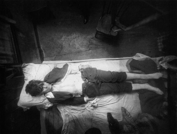 New York City homicide scene photograph: Antonio J. Demai. 19 years old. 19 December 1915.