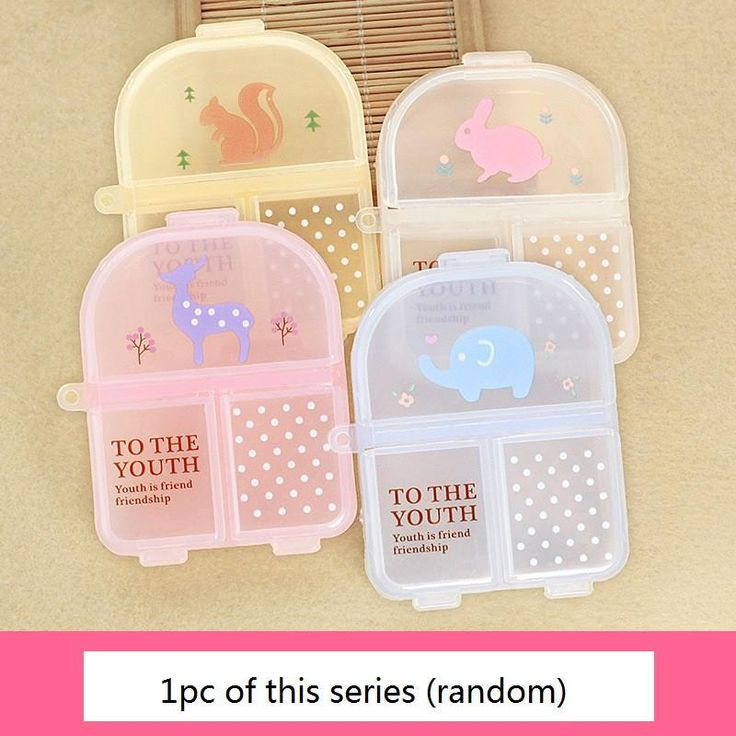 Cute Mini Cartoon Vitamin Tablet Pill Box Kawaii Drug Case Food Organizer Storage Container Medicine Box Kit Free Shipping 268