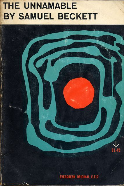 The Unnamable by Samuel Beckett. Grove Press, 1958. Cover by Roy Kuhlman.