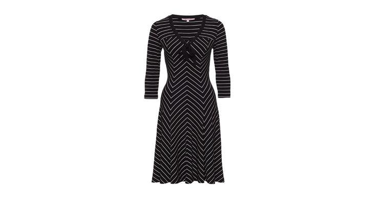 Gina Stripe Dress Black/Cream   Dresses   Review Australia