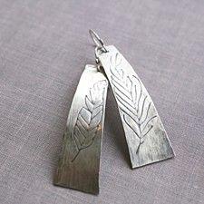 Sterliing Silver Feather Earrings