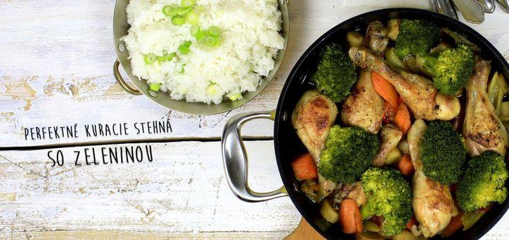 6 dolných kuracích stehien 3 mrkvy 2 petržleny 2 stopky stopkového zeleru menšiu brokolicu 1 cibuľu 4 strúčiky cesnaku 1 chilli papričku hrnček ryže Basmati hrnček kuracieho vývaru lyžicu masla a trochu olivového oleja soľ, čerstvo mleté čierne korenie kuracie sprudka opečte z každej strany. Vyberte a na výpeku z mäsa restujte zeleninu, znova pridať stehná, podliať hrnčekom kuracieho vývaru a dať piecť zakryte alobalom do rúry na 180°