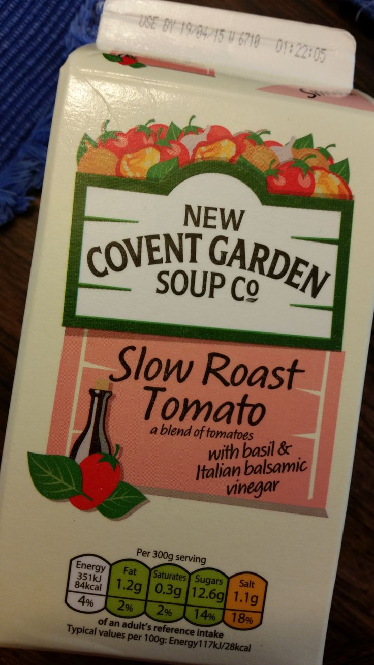 One of the staple foods in my fridge is Covent Garden Soup. There are so many varieties it never gets boring, and are a healthy, fresh alternative to making your own! Easy for a healthy lunch.