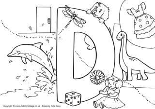 Letter D  Coloring Page Alphabet  BigActivities