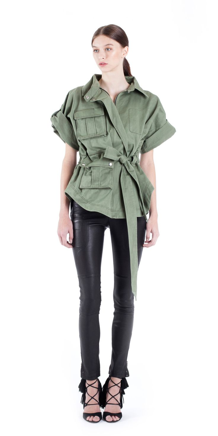 Womens tall military jacket