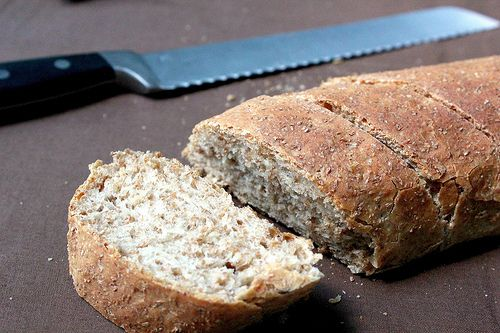 Whole Wheat Baguettes.  FINALLY, a recipe for Whole Wheat bread that REALLY is Whole Wheat...not half white flour!  If it's has white flour in it, it's NOT WHOLE WHEAT!!!