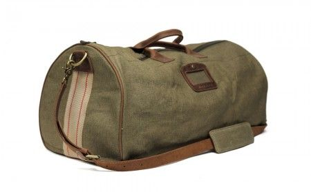 Re-Purposed Canvas Weekend Duffle Bag - Leather iPad / iPhone Case - Temple Bags Store ($200-500)