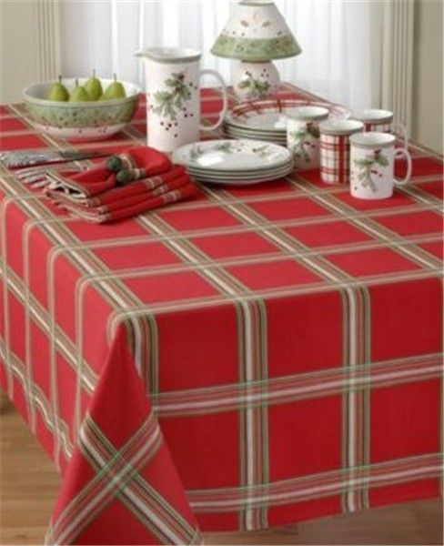 24 best Christmas red plaid tablecloth images on Pinterest ...