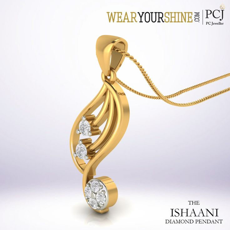 """""""The Ishaani Diamond Pendant' lets the comfy you shine all day. Shop with WearYourShine.com here: http://goo.gl/CvpjNs  #Pinterest #Fashion #Trends #Jewellery #Accessories #EveryThing #Beauty #Roposo #JewelryShopping #Shopping #Roposo"""