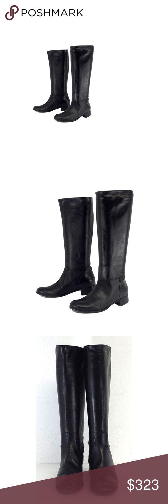 Roberto Del Carlo- Black Leather Knee High Boots Sz 7.5 Roberto Del Carlo- Black Leather Knee High Boots Sz 7.5 Roberto Del Carlo Shoes High Low