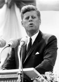 John F. Kennedy - because he challenged us as a nation to better.