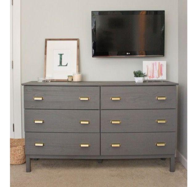 Grey 6 drawer