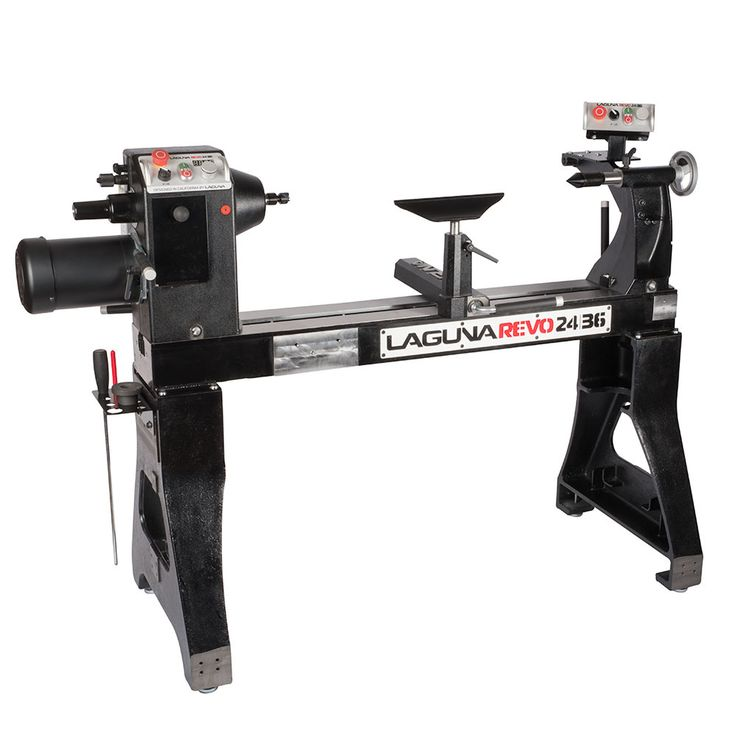 Laguna Revo 24 36 Lathe from Craft Supplies USA --- This lathe is a serious contender in the large capacity, professional grade woodturning lathe market. It features a user-friendly ergonomic design, cast iron/steel construction, precision machined components throughout, powerful 3HP motor, and remote control box. #woodturning #lathe #lagunatools #woodturnerscatalog