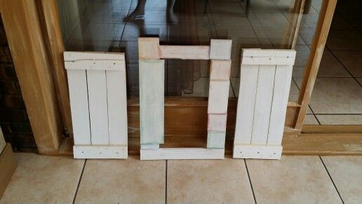 Pieces of left over wood -to frames.