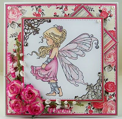 Silver Fairy [SZWS102] - $8.00 : Whimsy Stamps