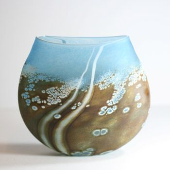 This series of handmade glass is called Beach - inspired by that frothy foam over rocks - the small to medium pieces are £80-£95 at the WOW Gallery, Dorking