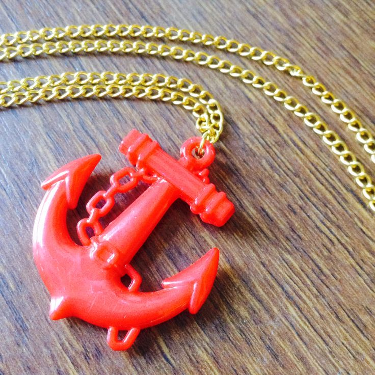 Red plastic anchor available from www.etsy.com/milkmaidjewellery