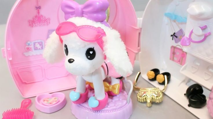 미미 옷입는 강아지 슈슈 인형 집 옷갈아입기 와 뽀로로 장난감 Puppy Dress up Dog Doll Fashion Pet H...