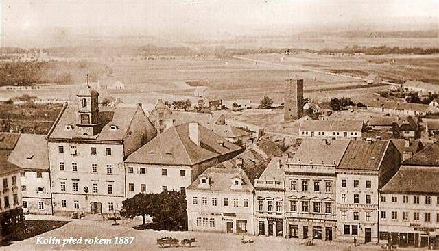 Pohled na Kolín od sv. Bartoloměje rok 1887