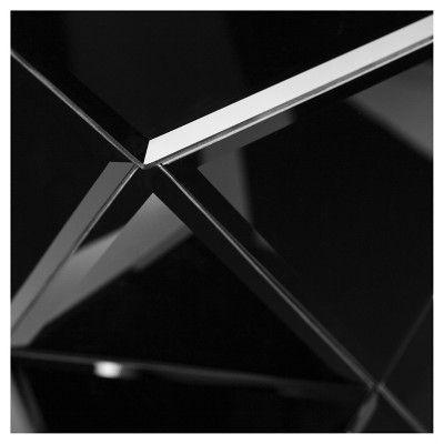 Marha Mirrored Storage Cabinet - Bronze - Aiden Lane, Black