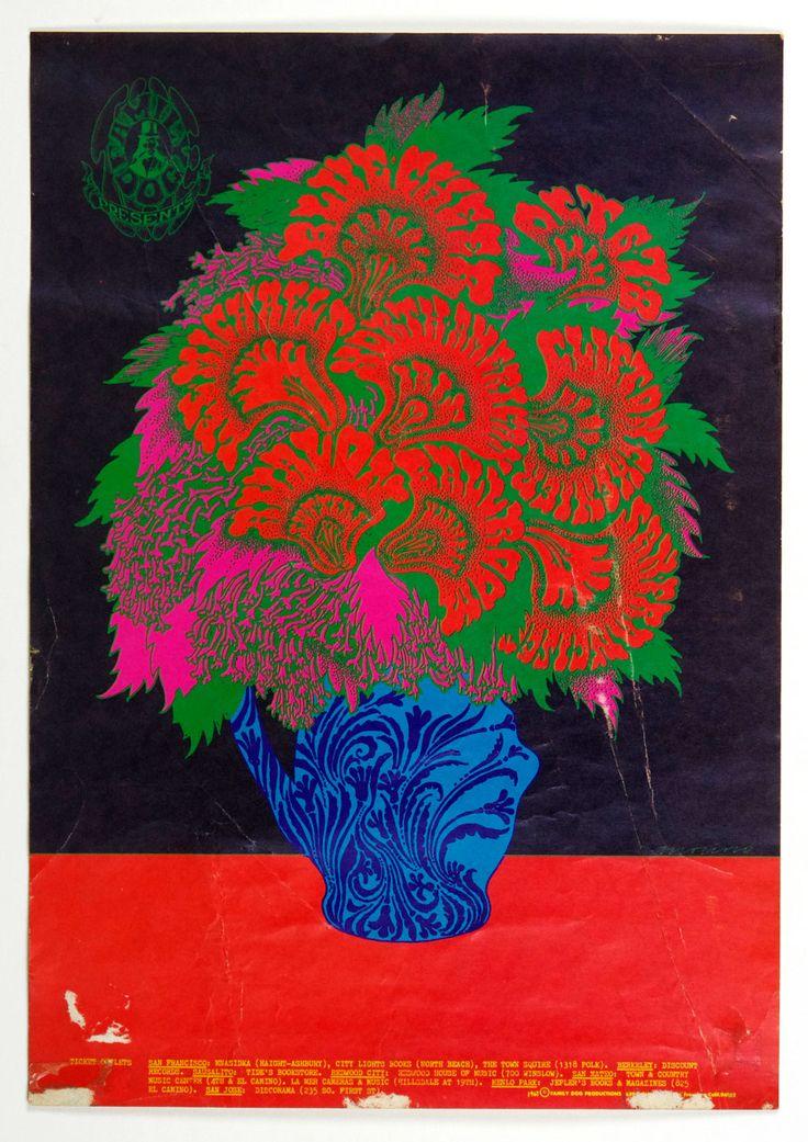 Family Dog 086 Flower Pot Poster Blue Cheer Lee Michaels Clifton Chenier 1967 Oct 6