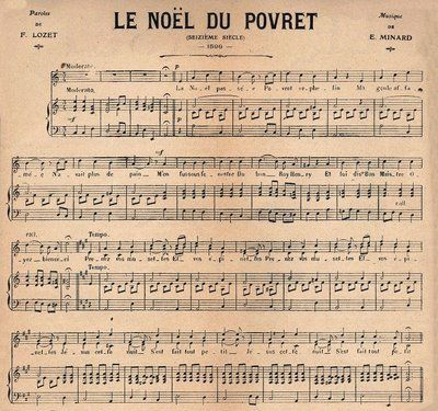 antique french wrttten sheet music' | found this wonderful piece of French Christmas sheet music in an old ... #vintagefrenchdecor