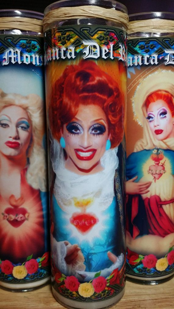"Bianca Del Rio Candle -  RuPaul Drag Race - 8""  Celebrity Tribute Candle - Heavenly geekery $16.00"