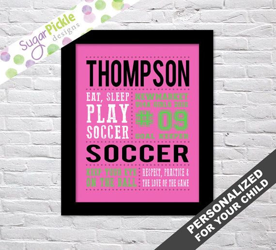 Soccer print for girls, Soccer Subway art, Soccer Print, Soccer Stats Art, Soccer Wall Art, Soccer printables, Team Gift, Personalized,