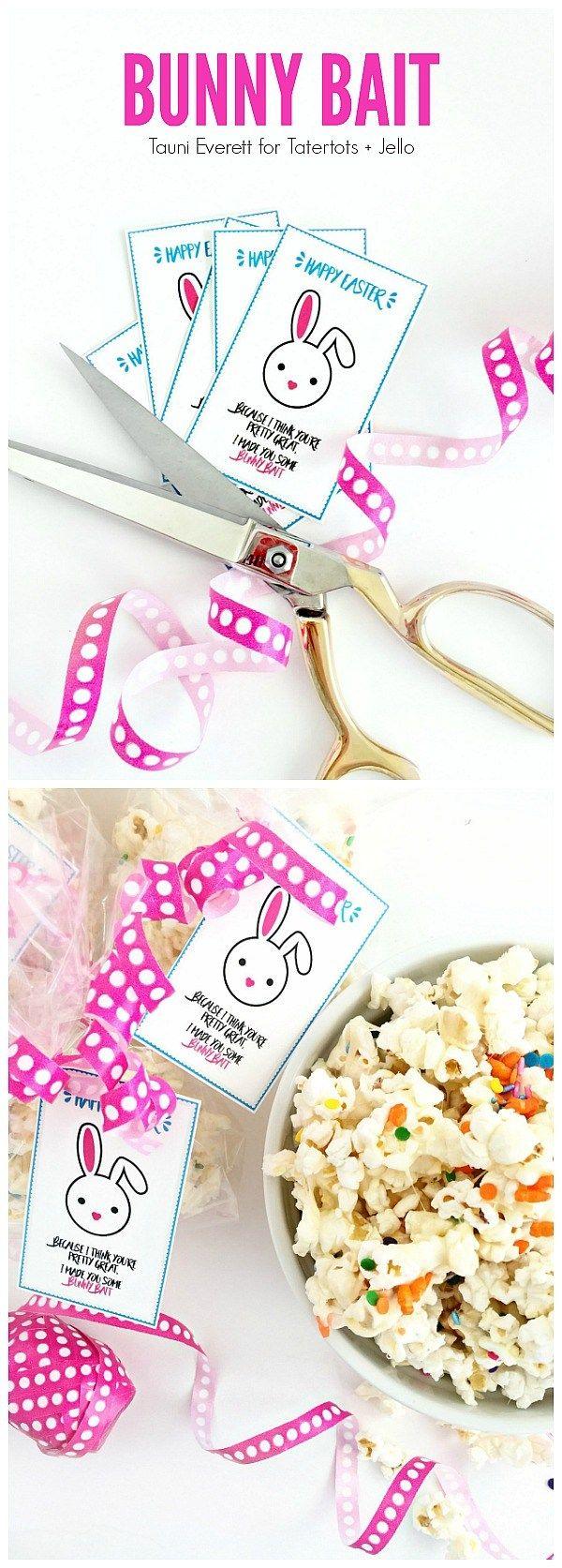 Bunny Bait Gift Idea Printable Tags