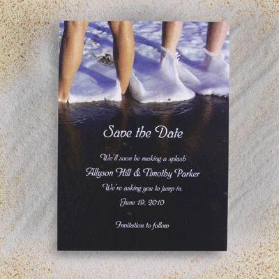 Save The Date Photo Beach Card