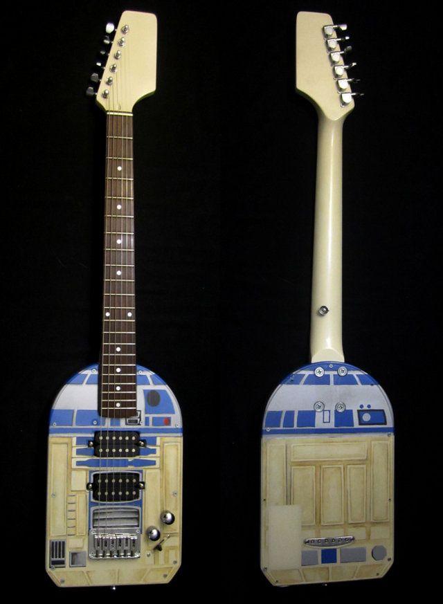 Custom Built Guitar2-D2Custom Built, Guitar2 D2, Birthday Gift, R2D2 Guitar, Star Wars, Stars Wars, Weights Loss, Starwars, Electric Guitar