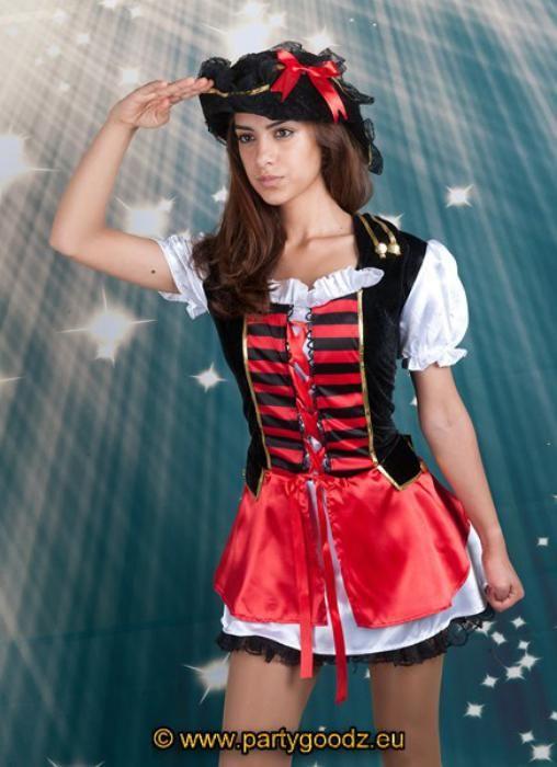 Vrouwen kostuums-Admiral Piraat vrouw