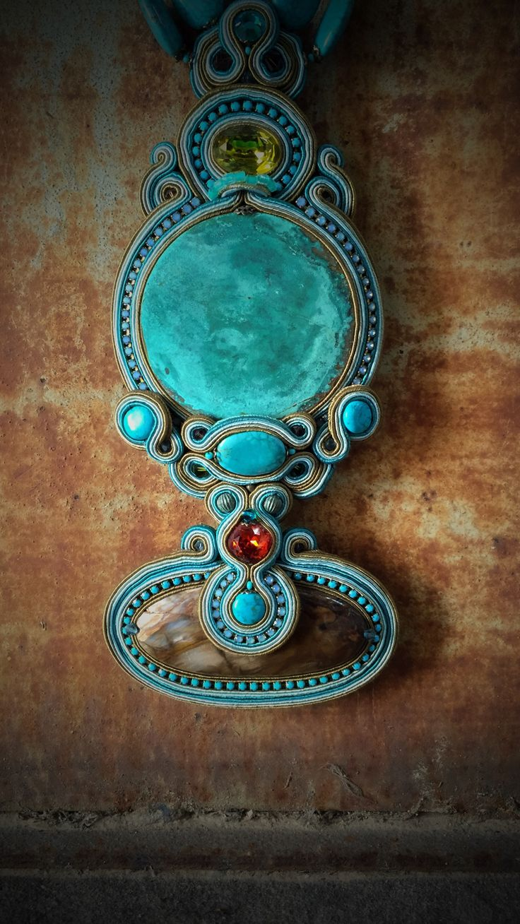 Immerse yourself in vibrant turquoise shades and high fashion design... #DoriCsengeri #statement #necklace #turquoise