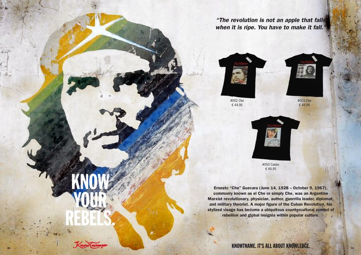 Knowtname of Che. www.knowtname.org find out about his back ground.