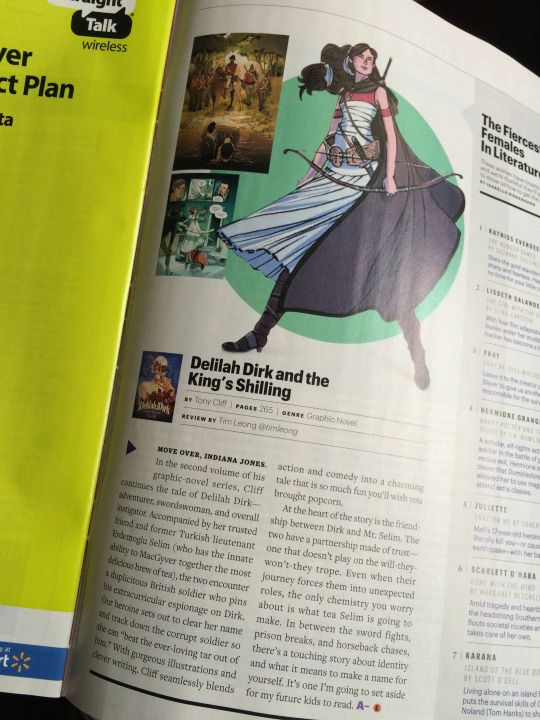 Entertainment Weekly!  Delilah Dirk!  Yay!  - First Second Books