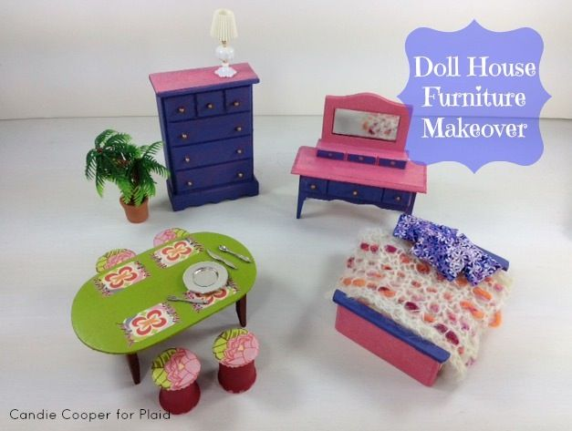 Dollar Store Doll House Furniture re-done!