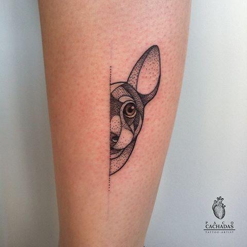 Tattoo perro Pinscher. #pacocachadastattoo #pacocachadas #thetattooedsociety #tattoo #tatuaje #thebestspaintattooartists #tattoolovers #dogtattoo #perrotattoo #puntillismo #dotwork #dotworkartist #dotworkdogtattoo #perropinscher #art #dog #dotworkart #murcia #tattoomurcia #tattoooftheday