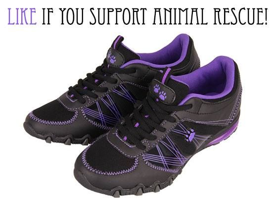 Paw print athletic shoes