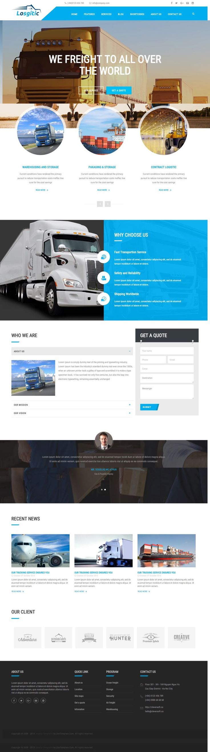 ZT Logistic Joomla Transportation Template