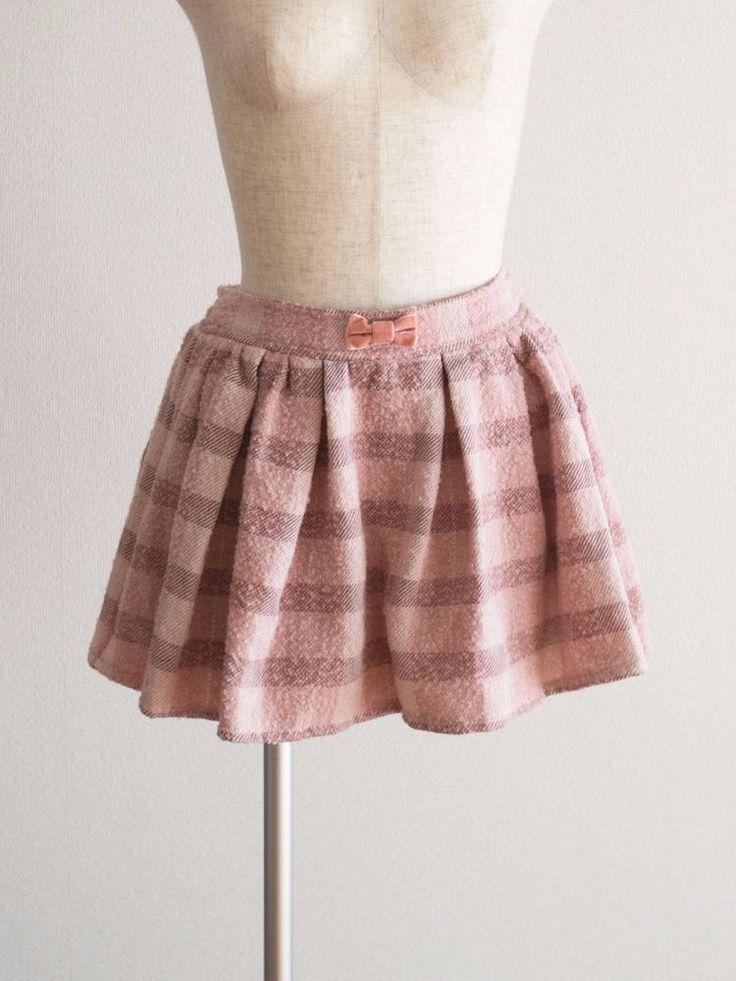 🎀LIZ LISA🎀 Brushed Plaid Wool Pink SUKAPAN Skirt Japan Size M Romantic Lolita #LizLisa #Pleated #Casual