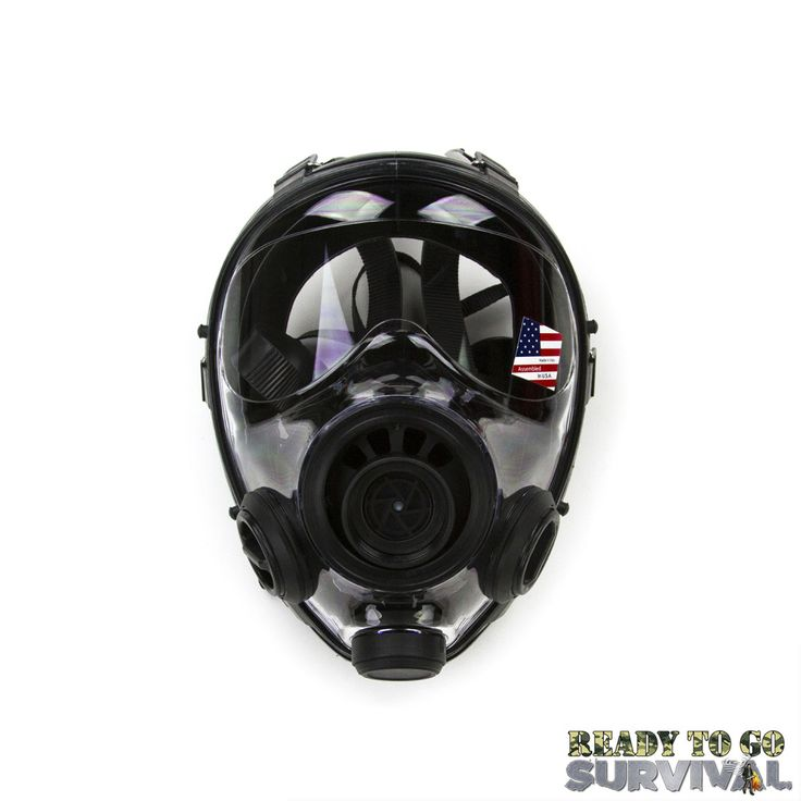Military and Police Tactical Gas Mask Rated For Chemical, Biological, Radiological, and Nuclear (CBRN / NBC) Threats