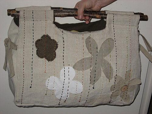 Cabas lin et bois Tuto  SITE : free tutoriels sacs bags + couture sewing